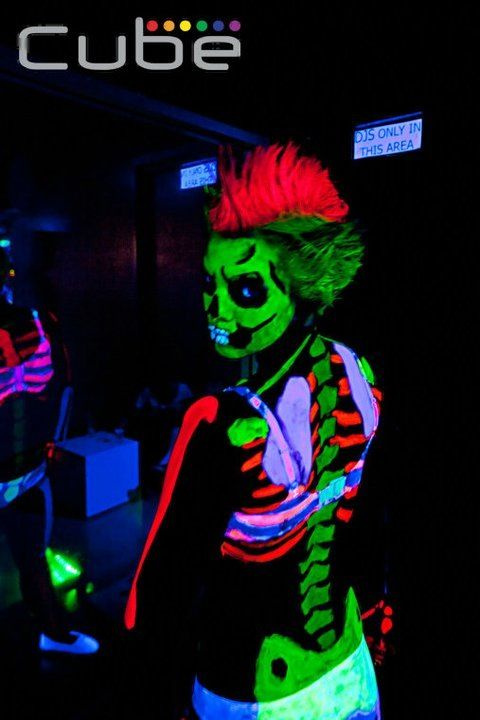 skeleton uv paint uv black light neon face paint. Black Bedroom Furniture Sets. Home Design Ideas