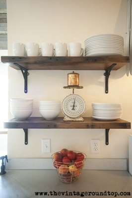 Open Shelving Instead Of Cabinets Kitchen Pinterest