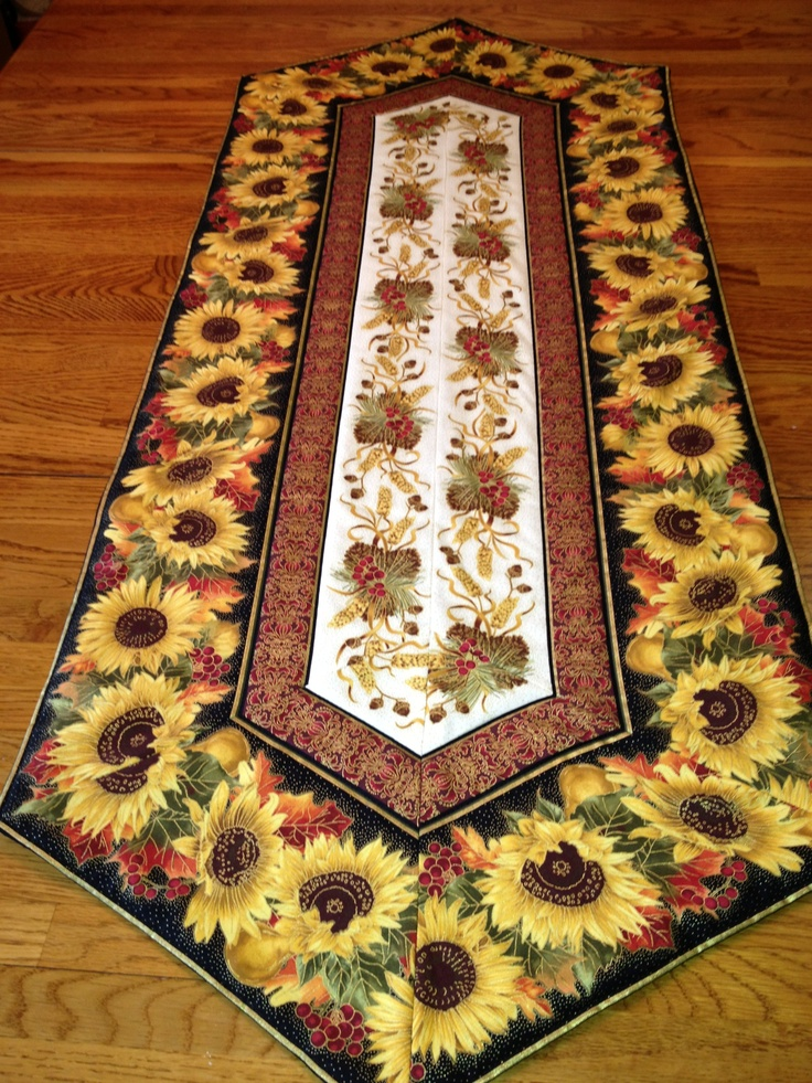 Thanksgiving table runner  Sunflowers  Pinterest