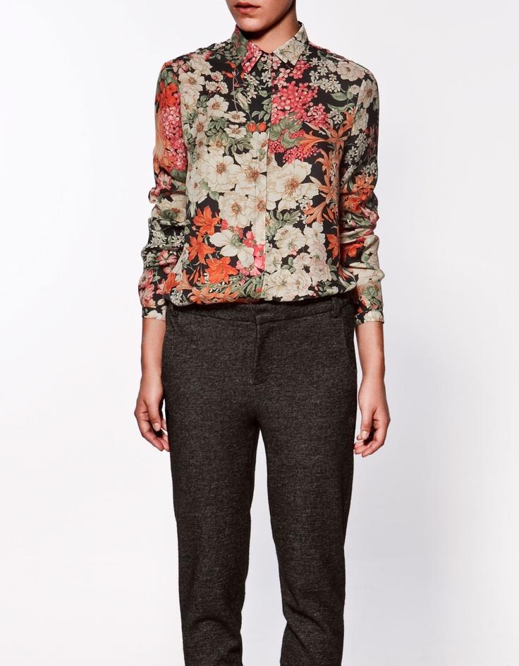 Zara Floral Print Blouse 111