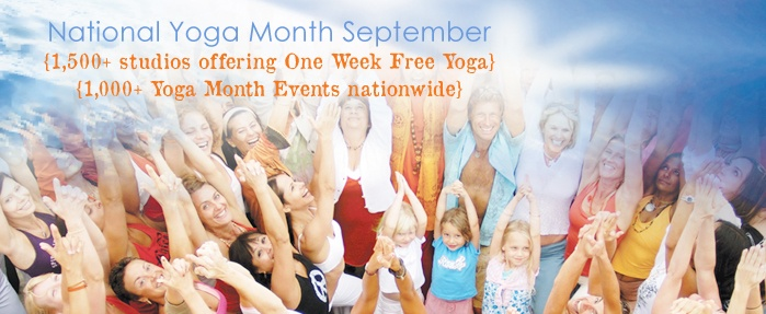 September is National  #Yoga Month!