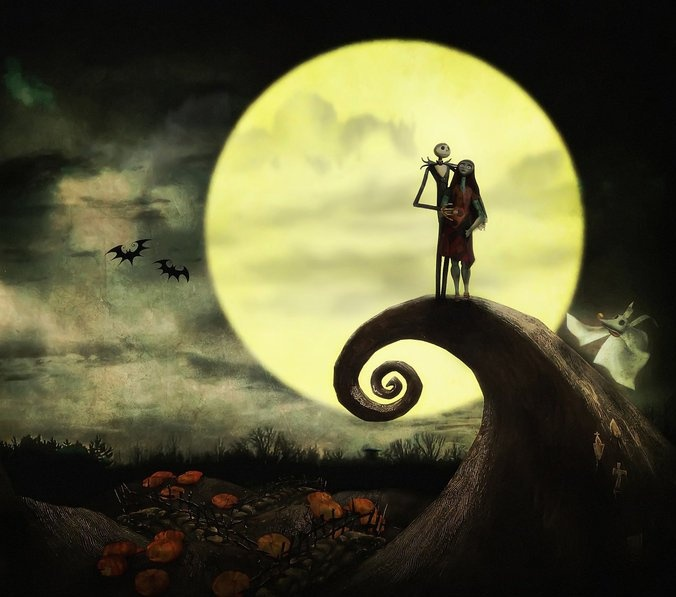Nightmare Before Christmas moon | Christmas Songs, Movies & Stories ...
