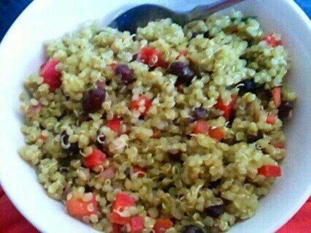 Black Bean & Quinoa Salad With Cilantro Lime Vinaigrette | Recipe