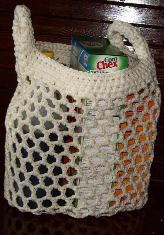 Crochet Grocery Bag Pattern : Crochet pattern for market bag, grocery bag, shopping bag