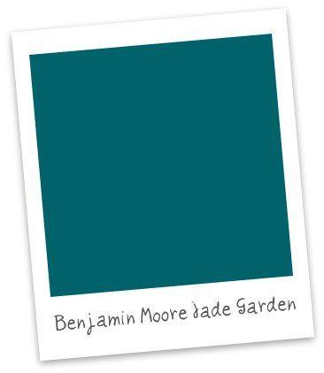 Benjamin Moore- Jade Garden. Love.