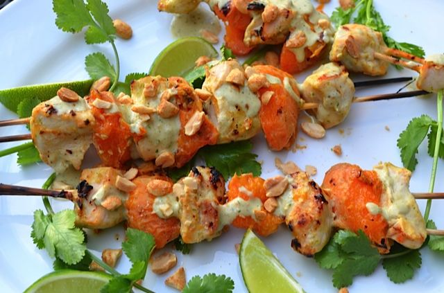 Chicken-Apricot Skewers | Tips From Town | Favorite Recipes | Pintere ...