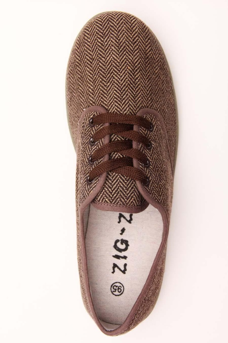 ZIG-ZAG FOOTWEAR HERRINGBONE OXFORD SHOE