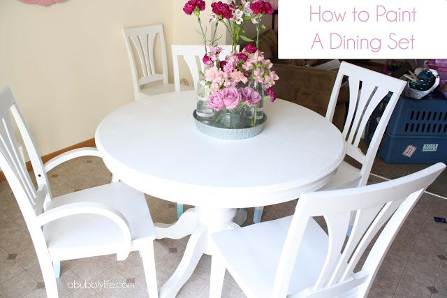 How To Paint A Dining Room Table Kitchen Remodel Pinterest