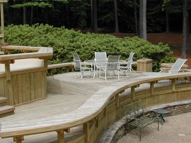 deck seating deck ideas pinterest