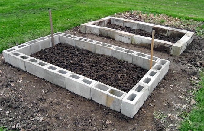 Cinder Block Raised Bed Gardening Pinterest