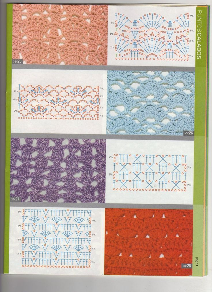 Crochet Stitches Graph : crochet stitch charts haken Pinterest