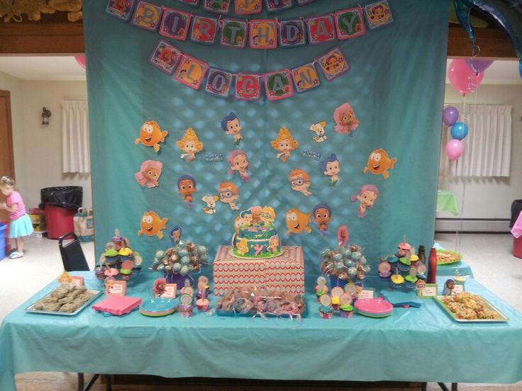 Bubble guppies party bubble guppies party ideas pinterest - Bubble guppie birthday ideas ...