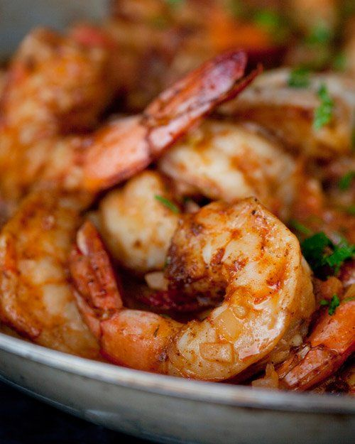 Smothered Shrimp and Andouille over Stone-Ground Grits | Recipe