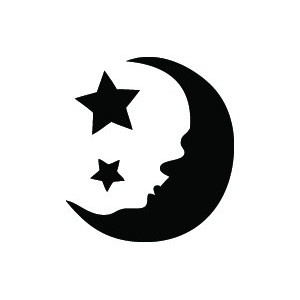 moon and stars | Stencils | Pinterest