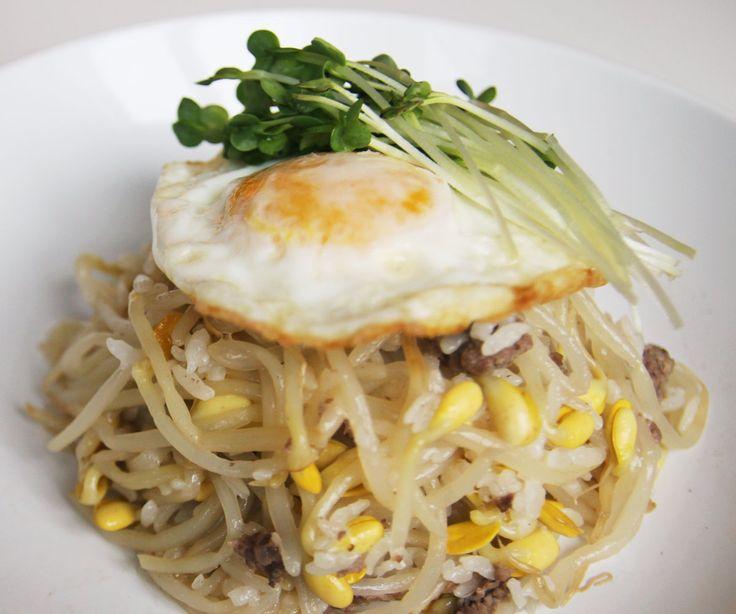 ... rice bowl kongnamul bap korean beansprout rice bowl recipes dishmaps