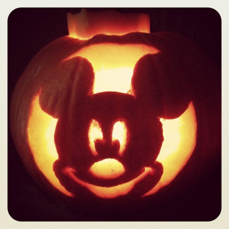 Mickey mouse template pumpkin