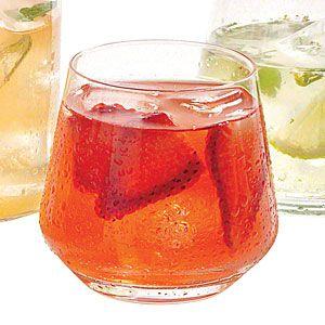 Strawberry and Rhubarb Lemonade | MyRecipes.com