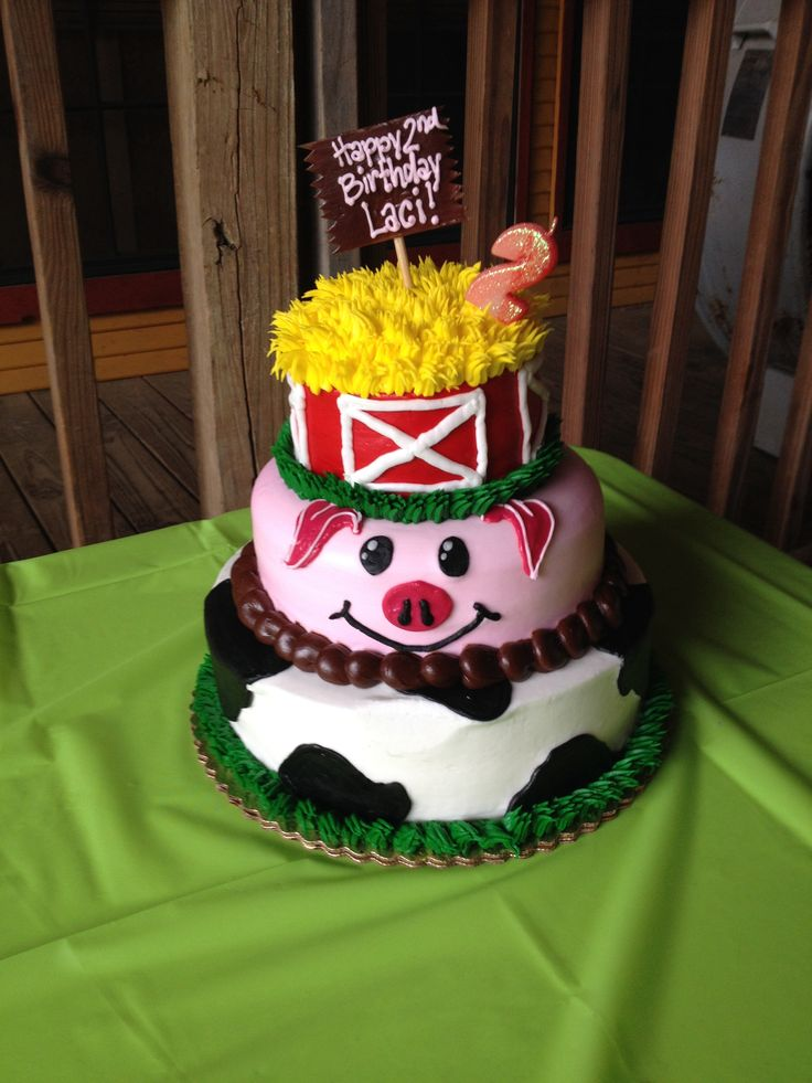 barnyard birthday cake ideas