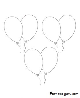 Coloring in sheets birthday balloons printable coloring pages for