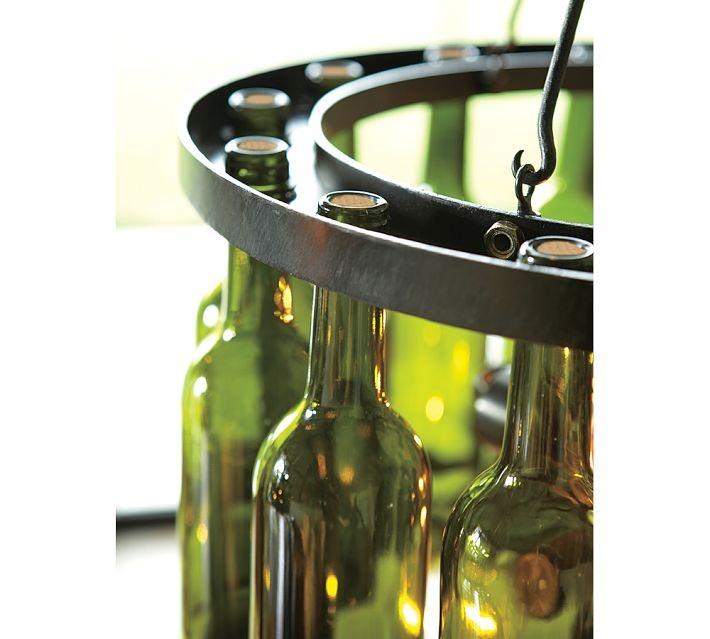 Wine bottle chandelier around the house pinterest - Wine bottles chandelier ...