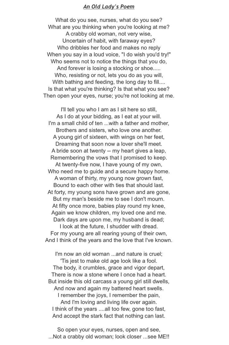 crabbit old woman poem analysis