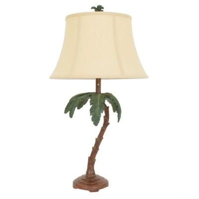 coconut palm tree table lamp tropical colonial style pinterest. Black Bedroom Furniture Sets. Home Design Ideas
