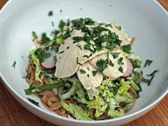 PEANUT SOBA, CABBAGE, AND CHICKEN SALAD | Salads And Slaws | Pinterest