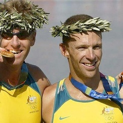 Drew Ginn, 37, Australia: three-time gold medalist coxless. His first Olympic gold was won in 1996, and he planned to return in 2000 but a back injury kept him out of the boat. Following two consecutive gold medal titles in Athens in 2004 and in Beijing in 2008, he decided to dabble with cycling but he'll be back in the water this year. - www.london2012.com #cycling #london2012 #olympics