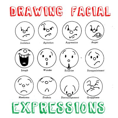 How to Draw Cartoon Emotions & Facial Expressions Drawing Lessons « How to Draw Step by Step Drawing Tutorials