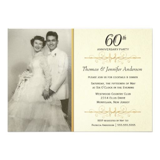 elegant 60th wedding anniversary party invitations With cheap 60th wedding anniversary invitations