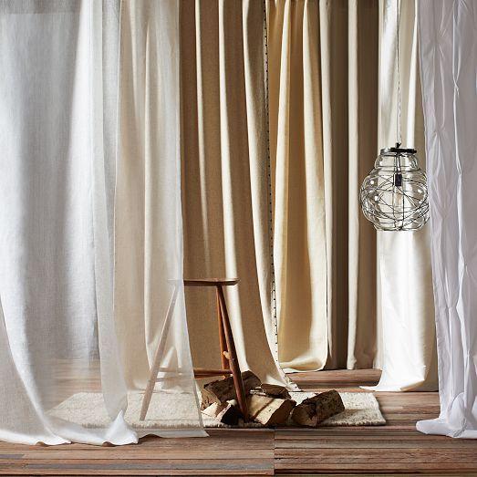 Cotton Canvas Curtains | west elm