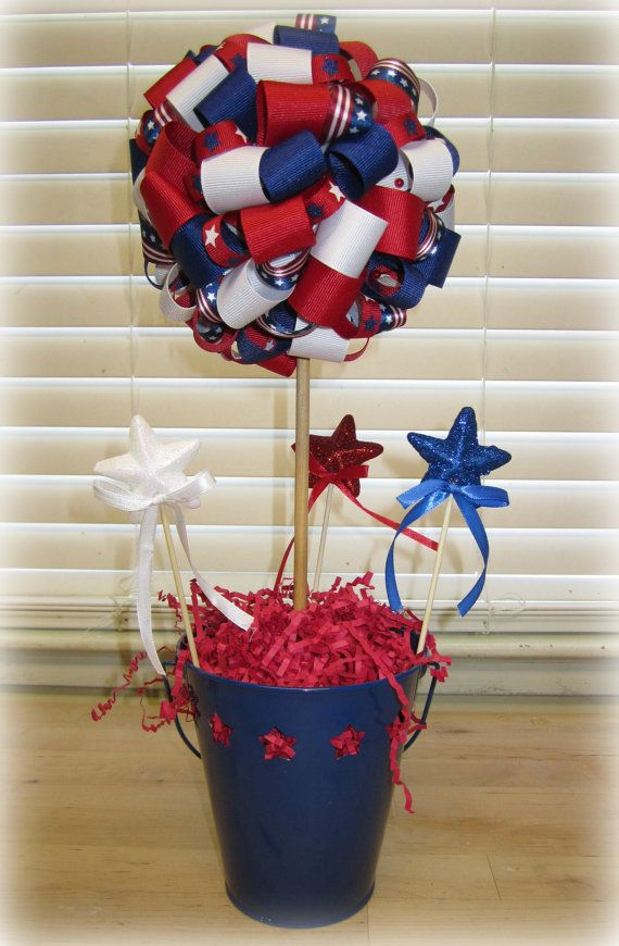 4th of july ribbon wreaths