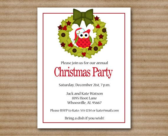 Owl Party Invitation as luxury invitations template