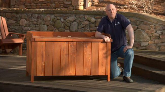 build a deck storage box for my garden pinterest