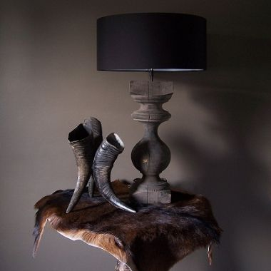 Lamp Baluster  Woonkamer  Pinterest