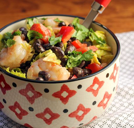 Shrimp and black bean salad with chipotle lime dressing, from The ...