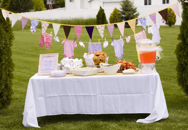Outdoor baby shower baby shower ideas pinterest for Backyard baby shower decoration ideas
