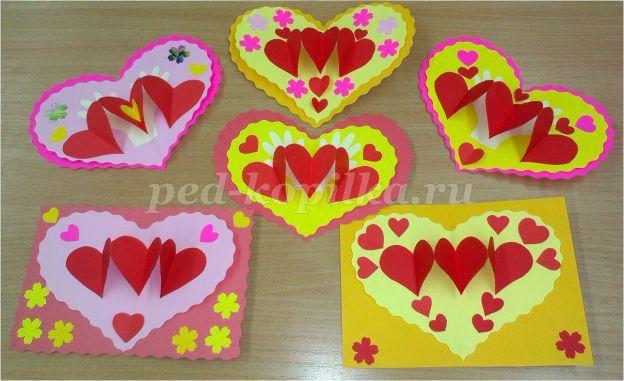 Поделки своими руками валентинки из бумаги