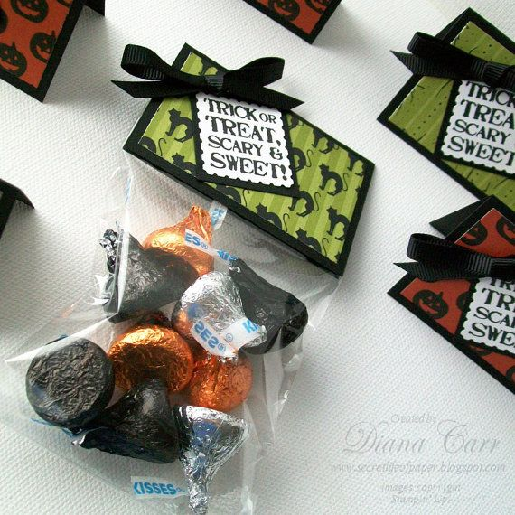 Halloween Treat Bags and Toppers (Set of 12) - Great Halloween Party ...