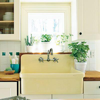 Farmhouse Style Sink Kitchen : Butter Yellow Farmhouse Sink - Farmhouse Sinks with Vintage Charm ...