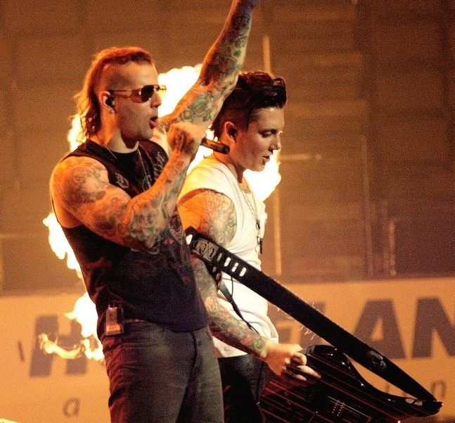 Synyster gates and m. shadows