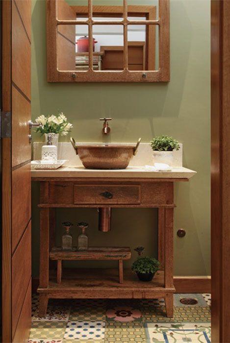 decoracao lavabo rustico : decoracao lavabo rustico:Lavabo Rustico