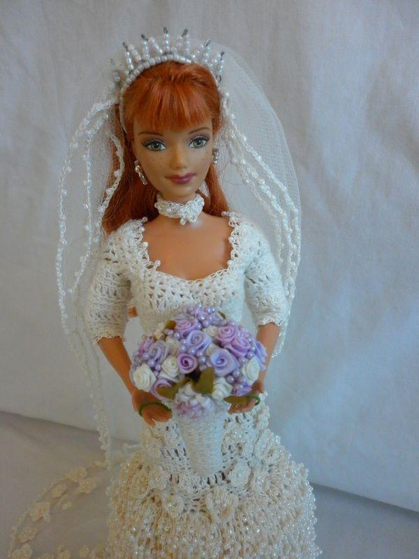 Barbie wedding dress crochet pinterest for How to make a barbie wedding dress