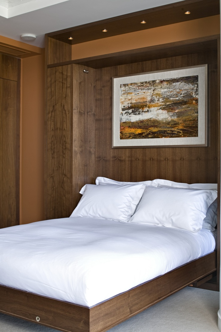 Den with murphy bed for the home pinterest for Murphy bed interior design
