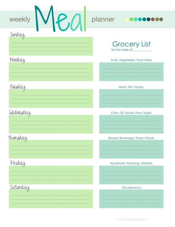 Best 25+ Weekly menu printable ideas on Pinterest | Weekly menu ...