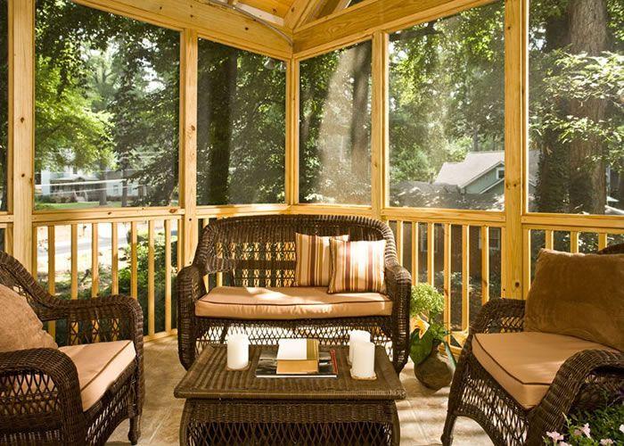 Sunroom Patio Screened In Porch Deck