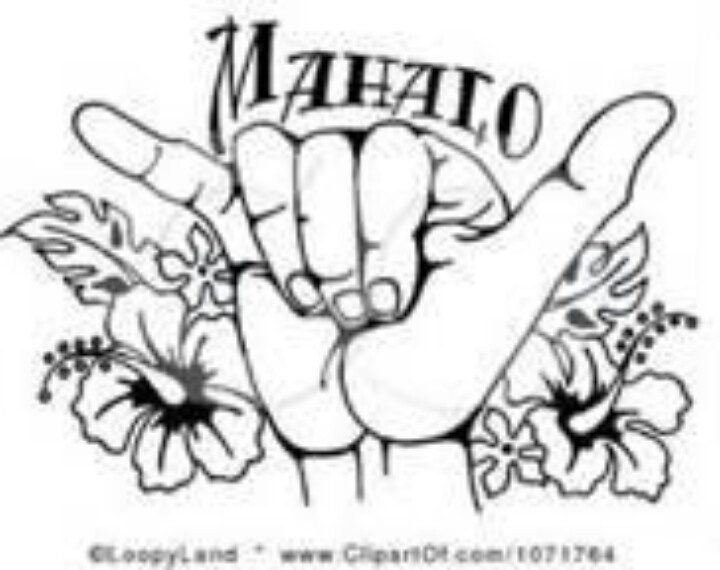 It means Thank ... Clip Art Hang Loose