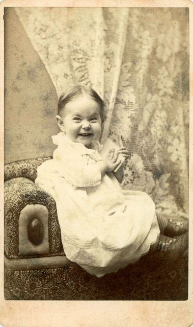 Rare to see such a funny expression in a picture from the 1800's.