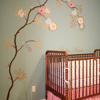 Baby Girl Nursery Home Office Of My Dreams Pinterest