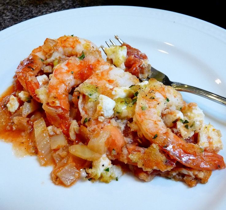 Roasted Shrimp with Feta by the Barefoot Contessa Lady. Good and easy ...